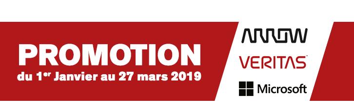 Arrow - Veritas - MicrosoftPromotion du 1er Janvier au 27 mars 2019