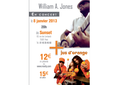 Affiche SunSet Jus d'Orange