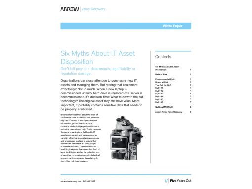 Arrow – White Paper Value Recovery